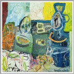 Rüdiger Giebler, 2001, Öl auf Leinwand, 80 x 80