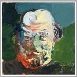 "Rüdiger Giebler ""Peter Wawerzinek"" 2013, Öl auf Leinwand, 60 x 60"