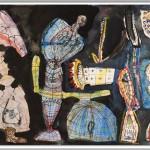 Rüdiger Giebler, 1992, Aquarell, 48 x 78