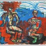 Rüdiger Giebler, 1997, Aquarell, Mischtechnik, 50 x 72