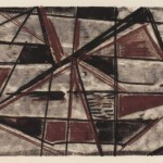1956, Monotypie, 27,2 x 45,0 cm, Blatt 44,7 x 50,2 cm