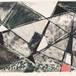 1956, Monotypie und Collage, 27,0 x 44,8 cm, Blatt 48,7 x 62,3 cm