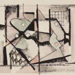 1953, Tusche, Feder, 15,5 x 20,0 cm, Blatt 23,5 x 30,5 cm