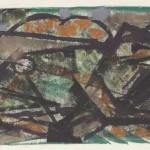 1959, Monotypie, 26,7 x 51,5 cm, Blatt 48,6 x 62,8 cm
