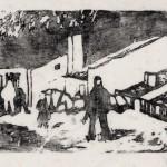 1957, Holzschnitt, 17,0 x 24,0 cm