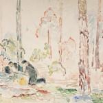 um 1938, Aquarell, 48,0 x 64,5 cm