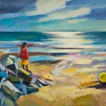 Strand an der Normandie