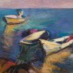 Fischerkähne auf Hiddensee