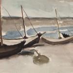 um 1956, Aquarell, 36,0 x 52,0 cm