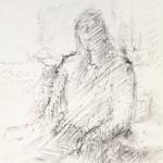 1981, Kohlezeichnung, 74,0 x 51,5 cm